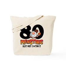 Prehistoric 80th Birthday Tote Bag