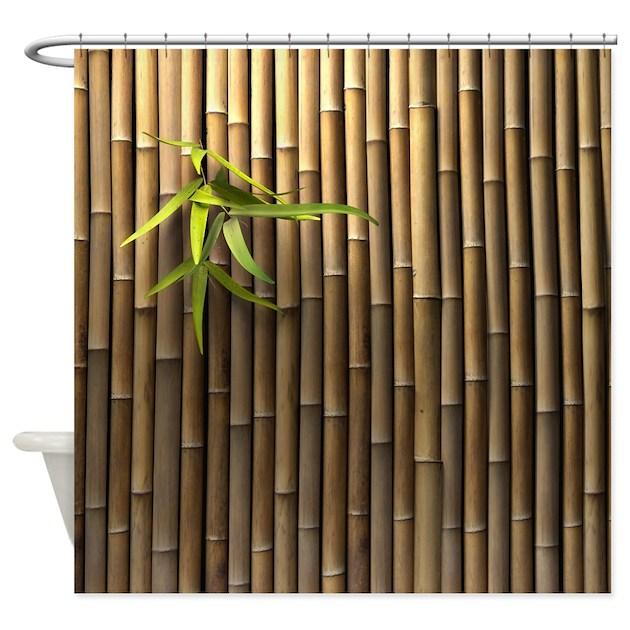 Bamboo Wall Shower Curtain By Showercurtainshop
