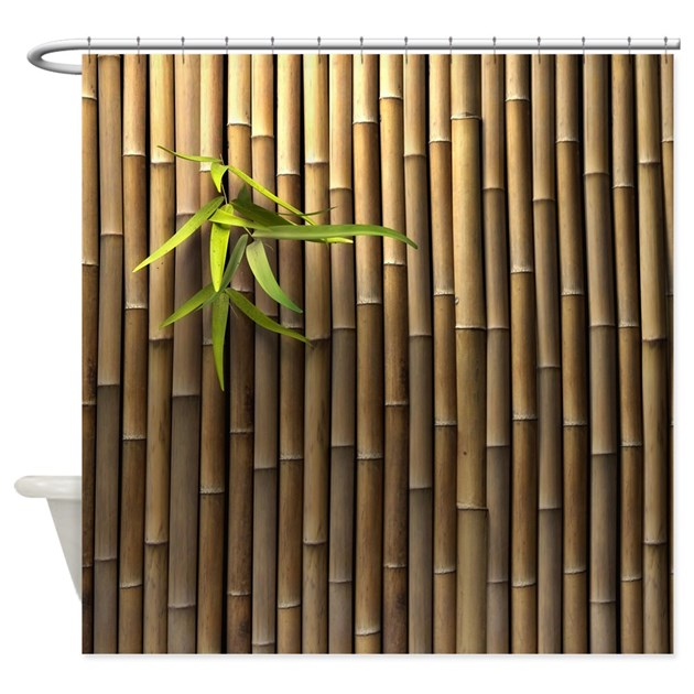 Bamboo Wall Shower Curtain by ShowerCurtainShop