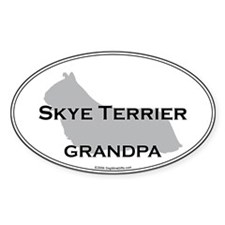 Skye Terrier GRANDPA Oval Decal