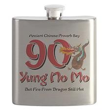 Yung No Mo 90th Birthday Flask