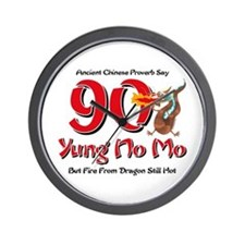 Yung No Mo 90th Birthday Wall Clock