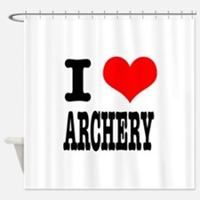 ARCHERY.png Shower Curtain