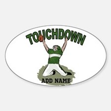 personalized Grid iron footballer Decal
