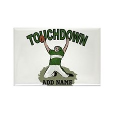 personalized Grid iron footballer Rectangle Magnet