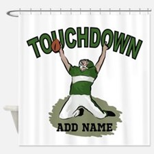 personalized Grid iron footballer Shower Curtain