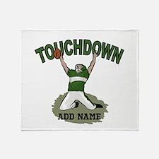 personalized Grid iron footballer Throw Blanket