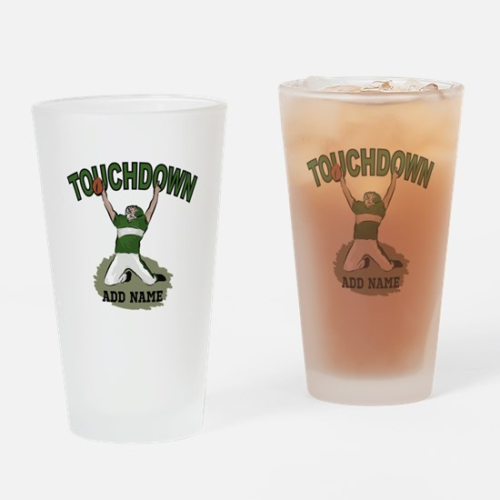 personalized Grid iron footballer Drinking Glass