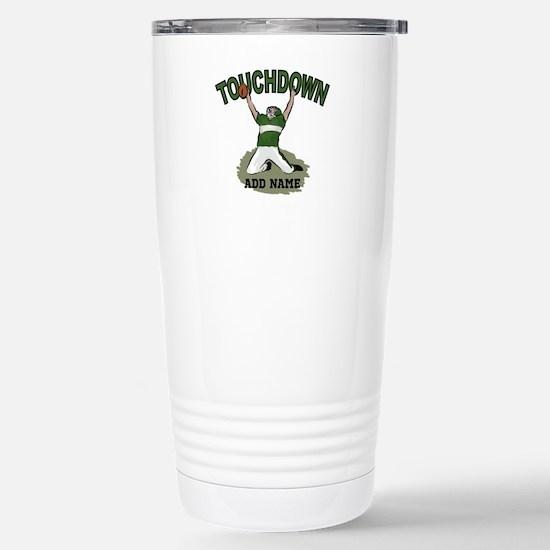personalized Grid iron footballer Travel Mug