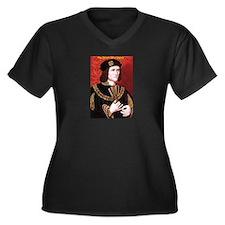 Cute Monarchies Women's Plus Size V-Neck Dark T-Shirt
