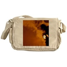 Smoke plume from asphalt plant - Messenger Bag