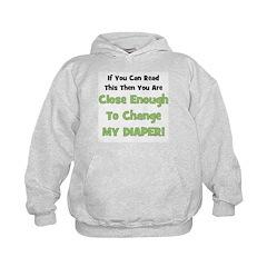Change My Diaper! Green Hoodie
