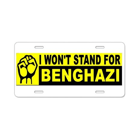 STAND BUMPERS BENGHAZI_001 Aluminum License Plate