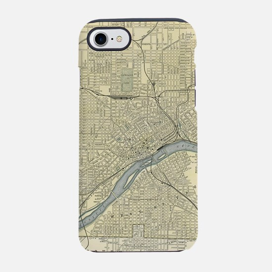 Vintage Map of St. Paul Minnes iPhone 7 Tough Case
