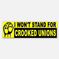 UNION CROOKS Bumper Bumper Bumper Sticker