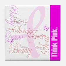 Think Pink (Elegance) Tile Coaster