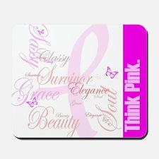 Think Pink (Elegance) Mousepad