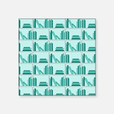 Books on Bookshelf, Teal. Sticker