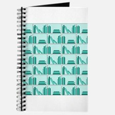 Books on Bookshelf, Teal. Journal