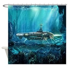 Steampunk Submarine Shower Curtain