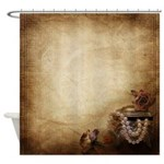 Antique Pearls Shower Curtain