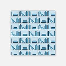 Books on Bookshelf, Blue. Sticker