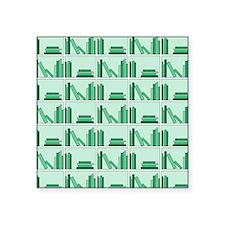 Books on Bookshelf, Green. Sticker