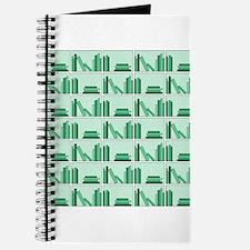 Books on Bookshelf, Green. Journal