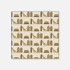 Books on Bookshelf, Beige. Sticker
