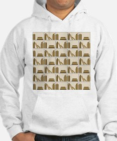 Books on Bookshelf, Beige. Hoodie