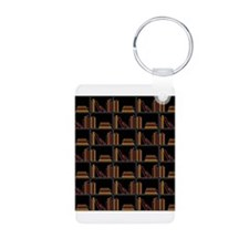 Books on Bookshelf. Keychains