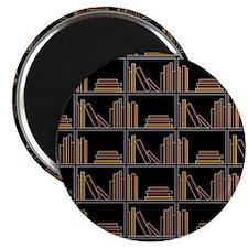 Books on Bookshelf. Magnet