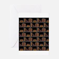 Books on Bookshelf. Greeting Card
