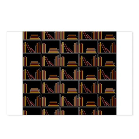 Books on Bookshelf. Postcards (Package of 8)