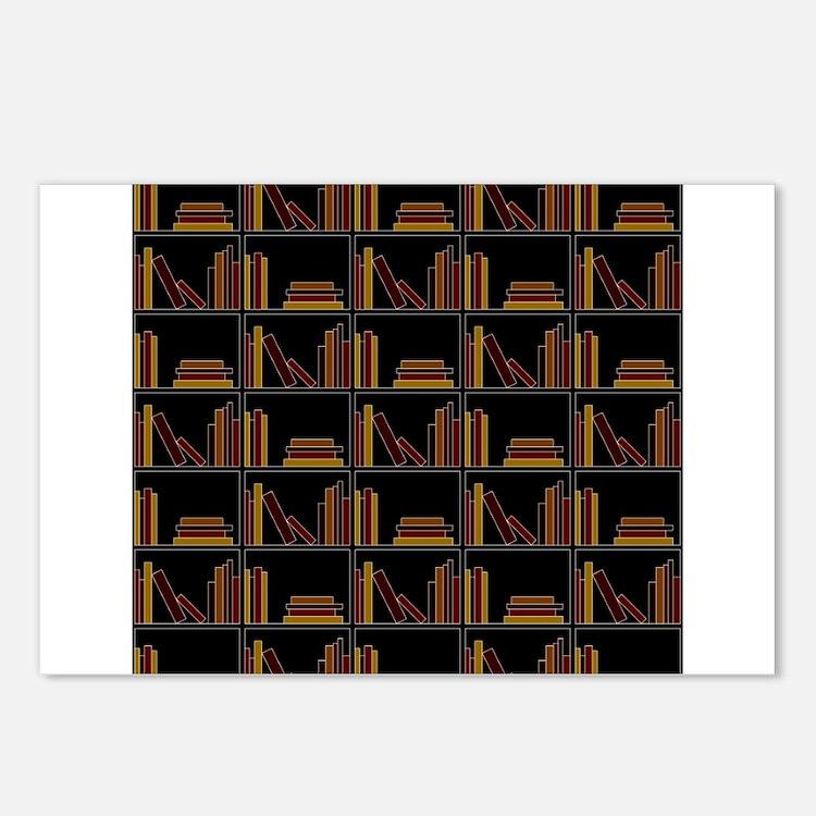 Books on Bookshelf. Postcards (Package of 8)