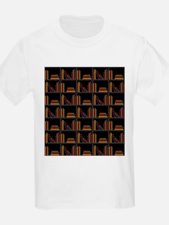 Books on Bookshelf. T-Shirt