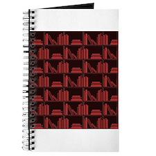 Books on Bookshelf, Dark Red. Journal