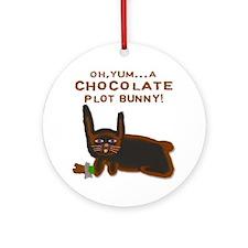 Chocolate Plot Bunny Ornament (Round)