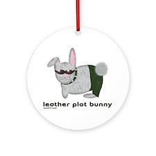 Leather Plot Bunny Ornament (Round)