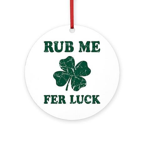 Rub Me Samrock Ornament (Round)