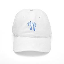 Baby Boy Footprints Baseball Cap
