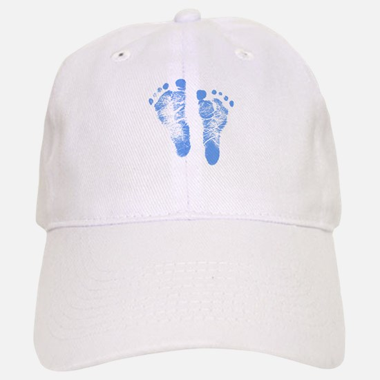 Baby Boy Footprints Baseball Cap