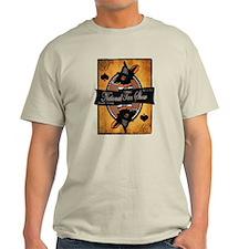 Men's Light Colored T-Shirt (Gray/Natural/Blue)