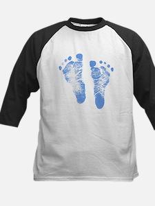 Baby Boy Footprints Baseball Jersey