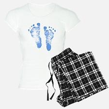 Baby Boy Footprints Pajamas