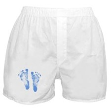 Baby Boy Footprints Boxer Shorts