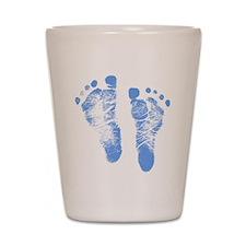 Baby Boy Footprints Shot Glass