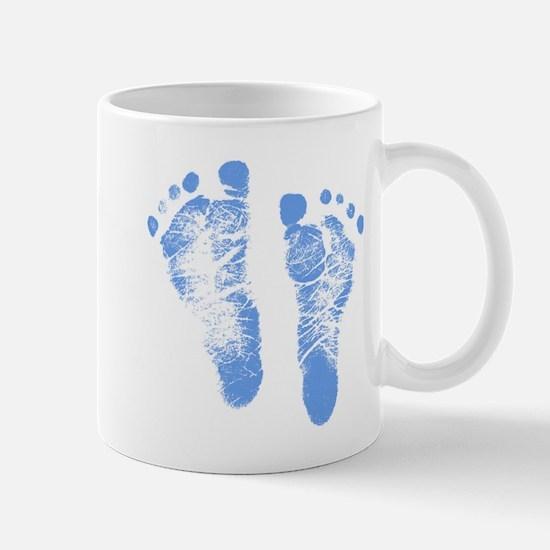 Baby Boy Footprints Mug