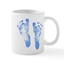 Baby Boy Footprints Small Mugs