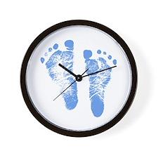 Baby Boy Footprints Wall Clock